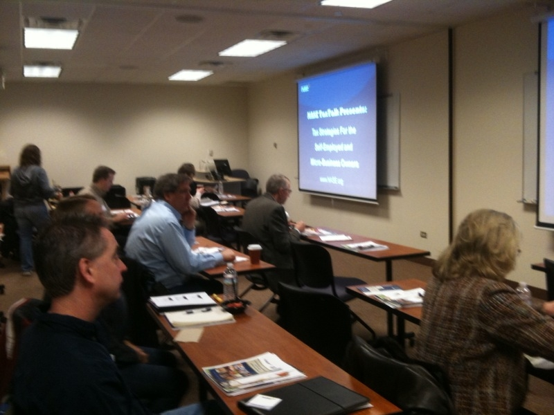 Business owners at the Illinois Small Business Development Center (SBDC) at College of DuPage